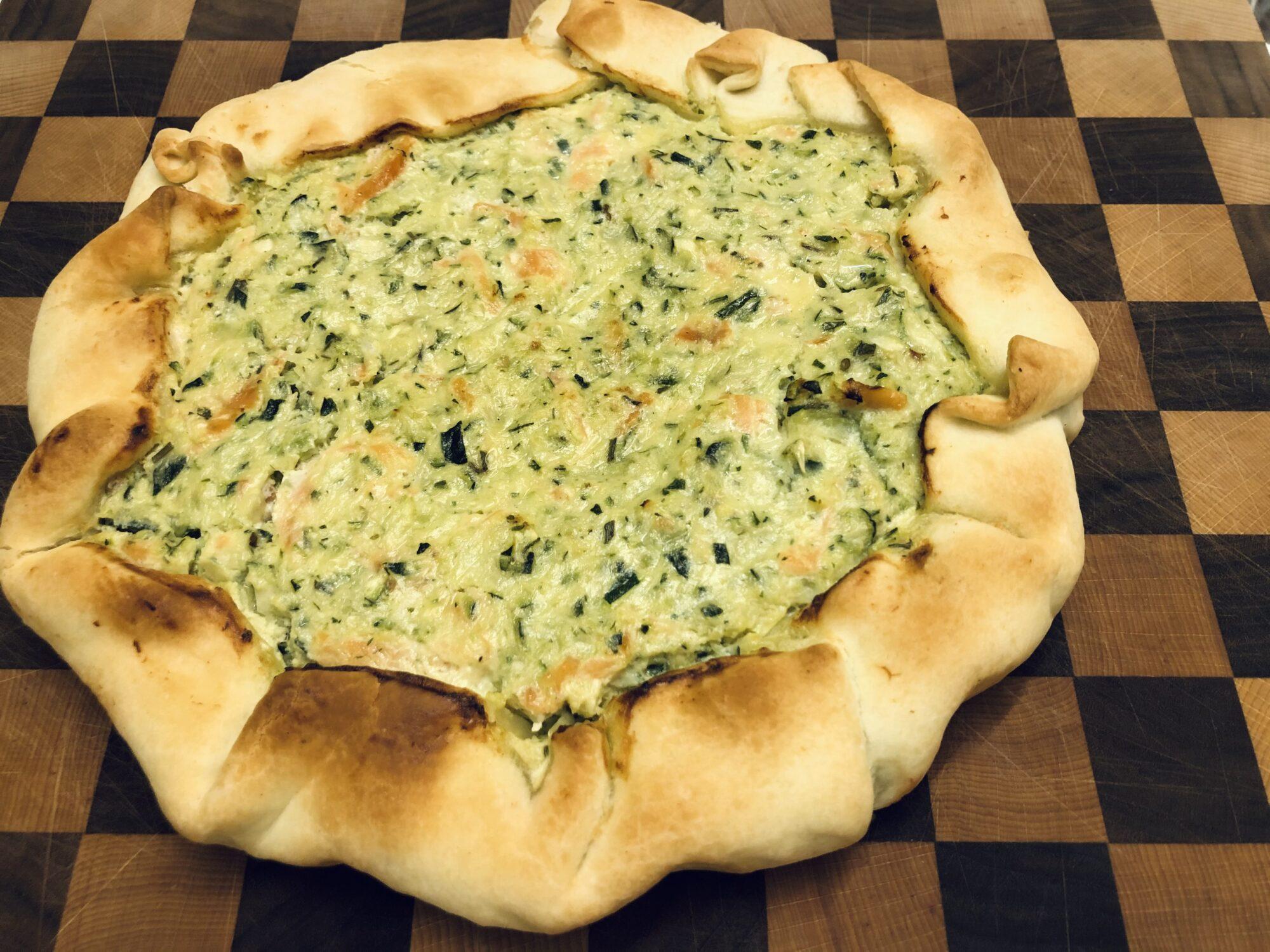 Ricetta Quiche Salmone E Zucchine.Torta Salata Con Salmone E Zucchine Le Ricette Di Casa Nostra